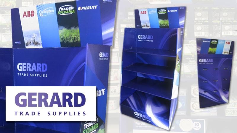 Cardboard display shelves retail