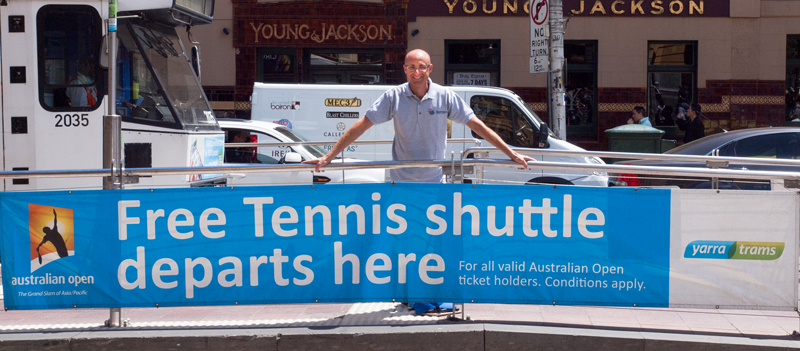 vinyl banner & corflute signs australian open