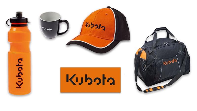 kubota customised promotional products