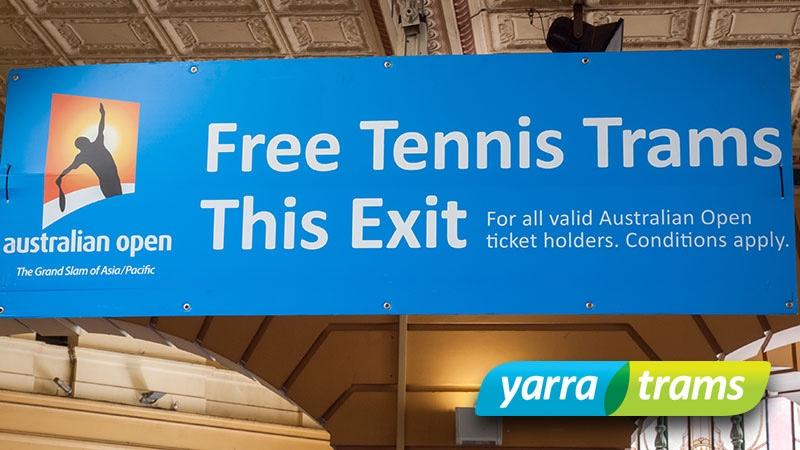 vinyl banners & correlate signs Australian Open