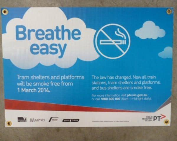 Breathe Easy Corflute Sign