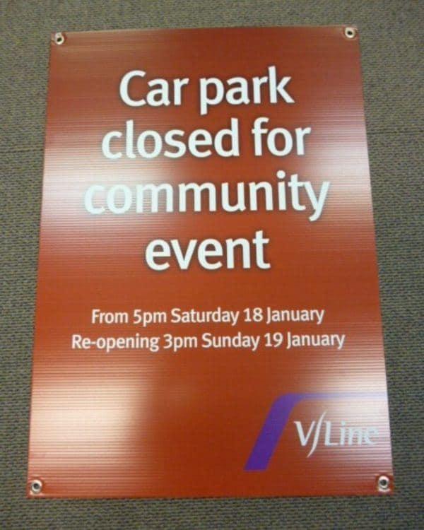 Car Park Closed Corflute Sign