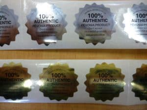 Silver and Gold Foil Labels