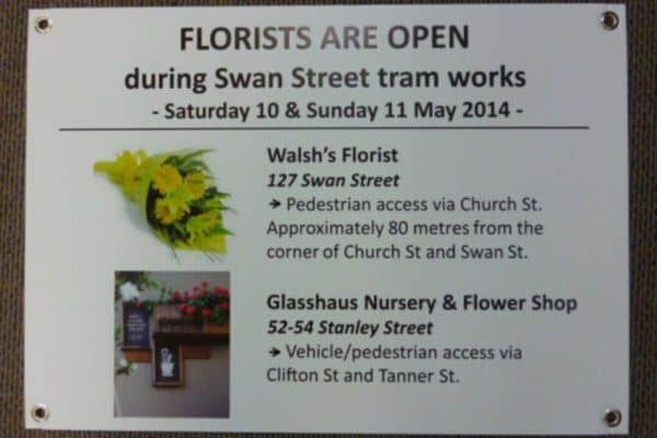 Florist Corflute Sign