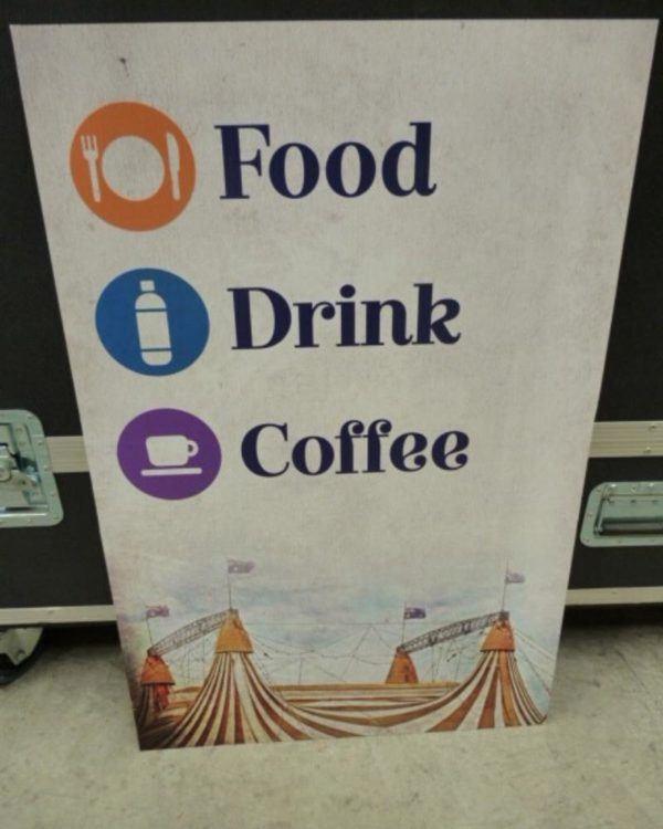 Food Drink Coffee Corflute Sign