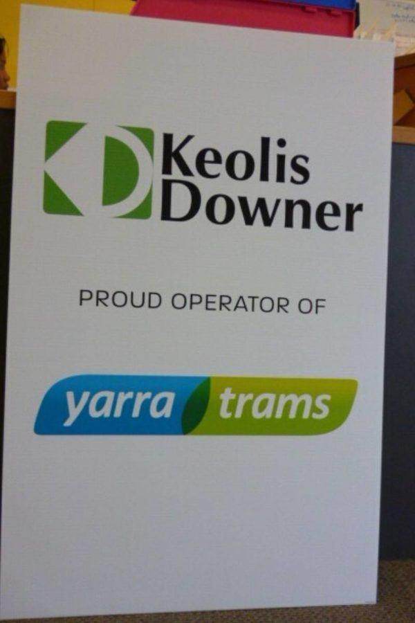 Keolis Downer Corflute Sign