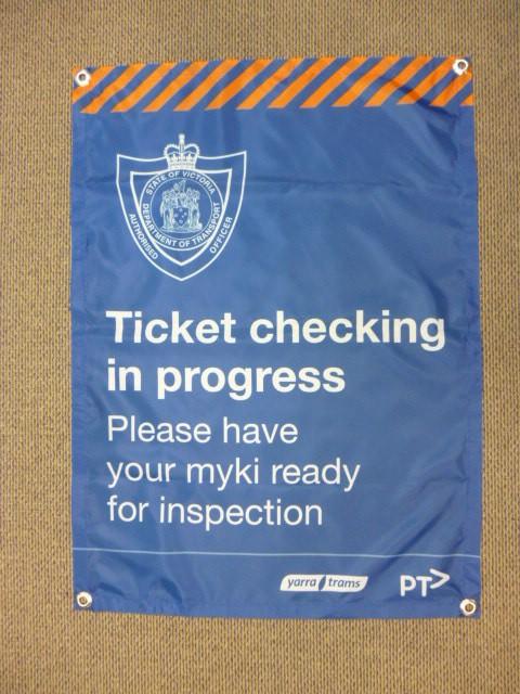 Ticket Checking Vinyl Banner