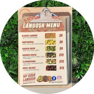 Langosh Menu Corflute Sign