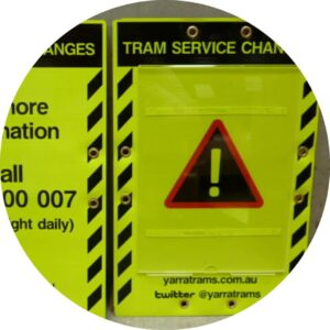 Tram Service Changes Corflute Sign