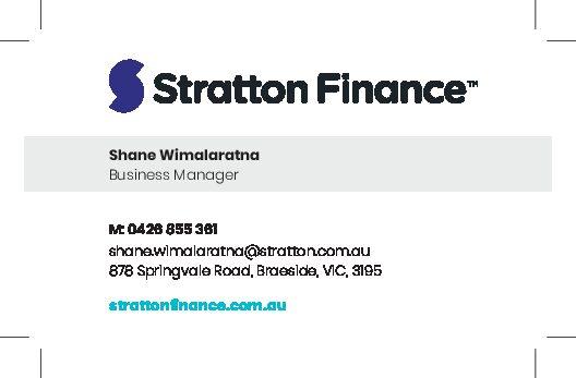 Standard Business Card Stratton – CUSTOMISABLE